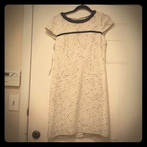 Elegant semi-formal black white dress. Size medium